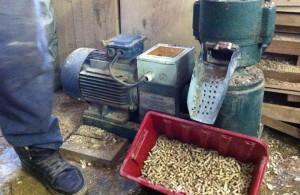 Процесс изготовления пеллет с помощью гранулятора