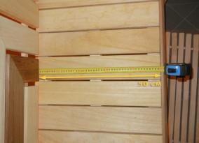 Ширина нижнего ряда полков в сауне - 50 см