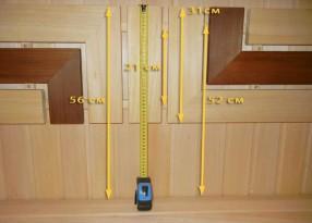 Размеры спинки полков подогнаны под рост людей от 160 до 185 см