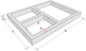 Фундамент под баню с двумя помещениями