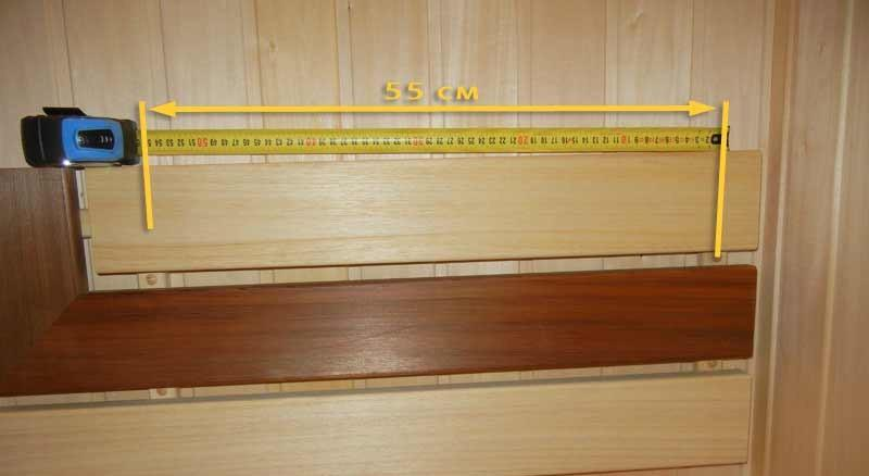 Расстояние между крепежными рейками для спинок полков