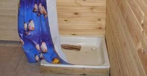 Установка на деревянный пьедестал