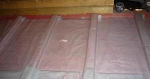 Укладка пароизоляционного материала