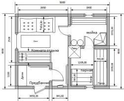 Баня 4х5 м с предбанником