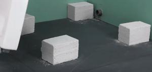 Установка опорных блоков
