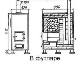 Кирпичная конструкция в футляре
