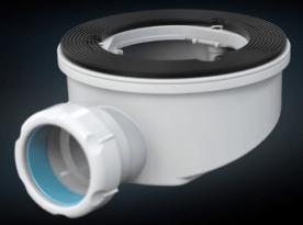 Система для соединения с канализационной трубой. Укомплектована прокладкой.