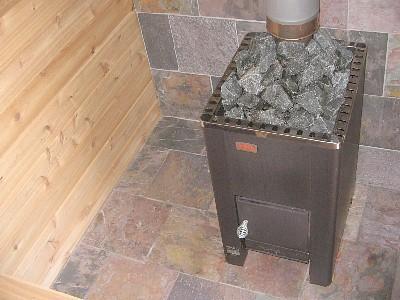 Металлическая банная печь