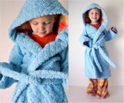 Банный махровый халат для детей