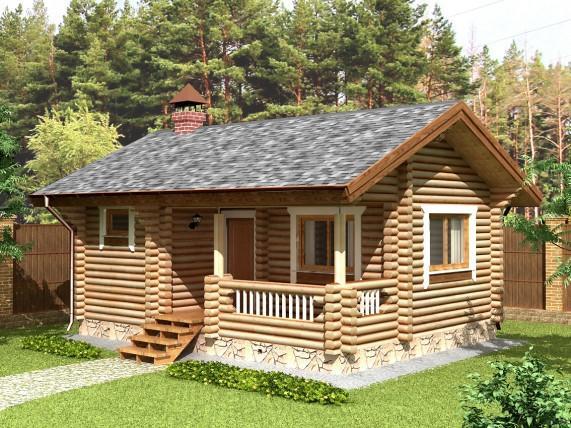 Баня-дом из сруба 40 м², (рис.27)