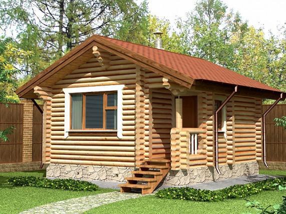 Баня-дом площадью 29,1 м² (рис. 10)