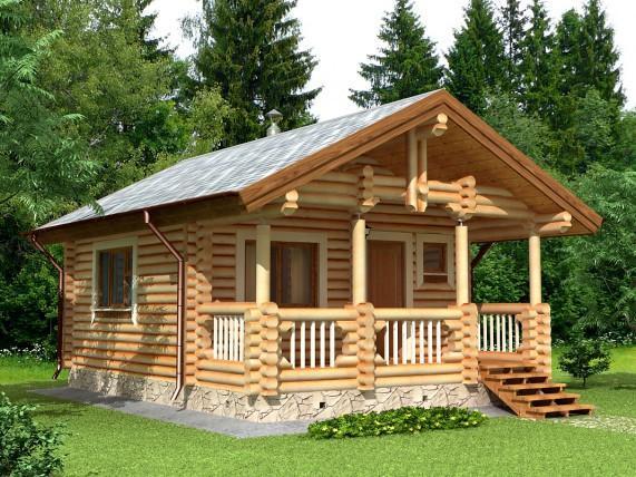 Баня-дом площадью 41,2 м² (рис. 33)