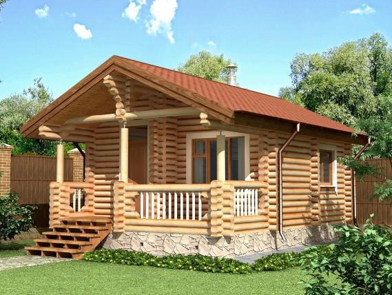 Баня-дом площадью 41,6 м² (рис. 39)