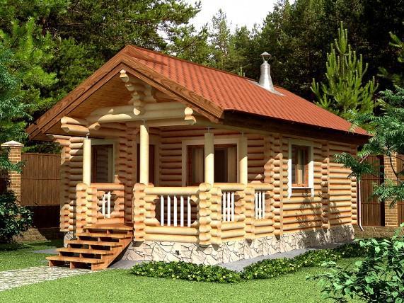 Баня-дом площадью 46,8 м² (рис. 52)