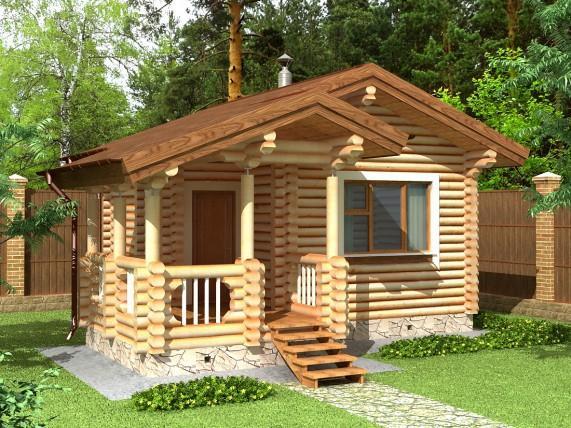 Баня-дом площадью 49,7 м² (рис. 15)