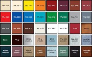 Большая цветовая гамма для металлочерепицы