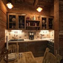 Вариант отделки кухни в бане