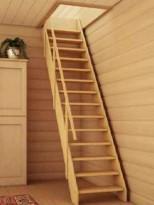 Внутренняя лестница на мансарду