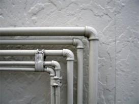 Водопровод и отопительная система из стальных труб