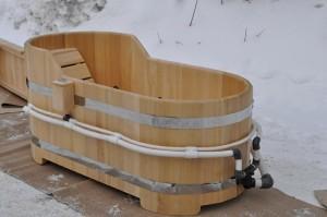 Деревянная ванна купель с гидромассажем