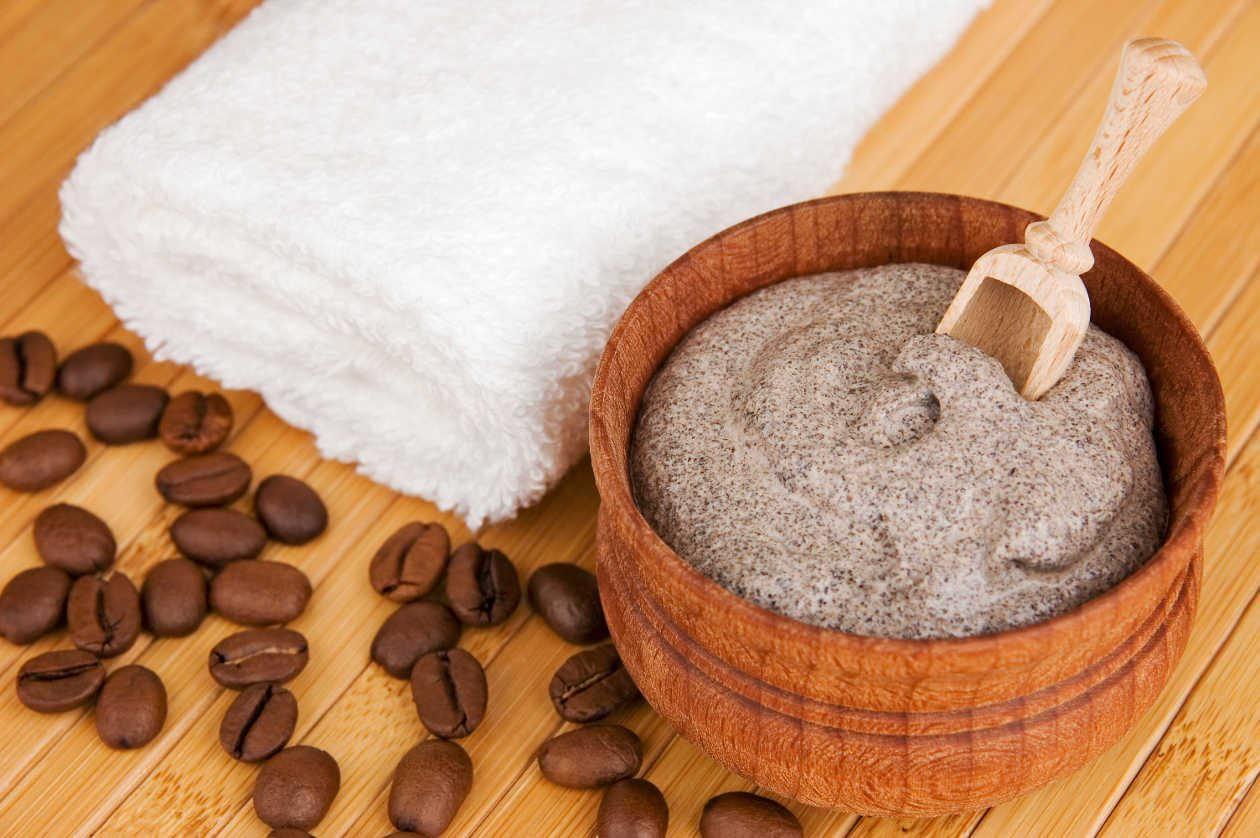 Домашний скраб для тела из кофе