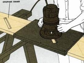 Изготовление пазов в тетиве