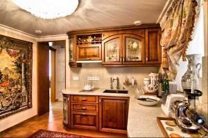 Классический интерьер кухни для бани