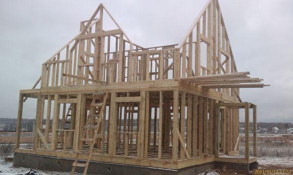 Конструкция первого и второго этажей каркасного дома