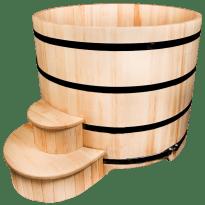 Круглая деревянная купель