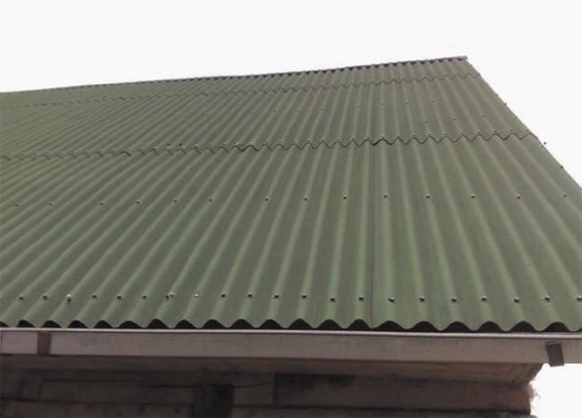 Крыша с ондулиновым покрытием