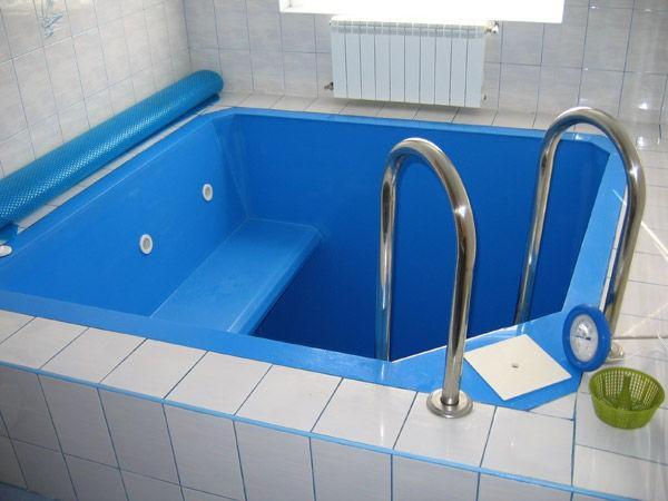 Купель из полипропилена в бане