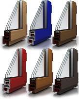 Ламинированные цветные окна ПВХ