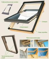 Мансардные окна могут быть пластиковыми и деревянными, но предпочтение стоит отдавать деревянным