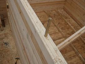 Монтаж деревянного нагеля