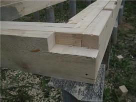 Нижняя обвязка каркас с установленными лагами