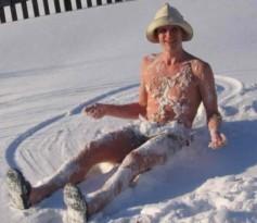 Ныряние в снег