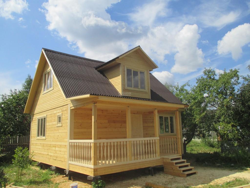 Одноэтажная баня с открытой террасой (рис. 3)