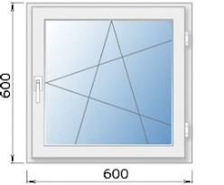 Окна размером 600×600 мм