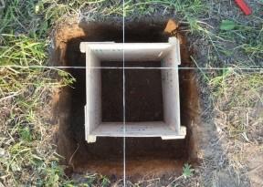 Опалубка для заливки опоры столбчатого фундамента