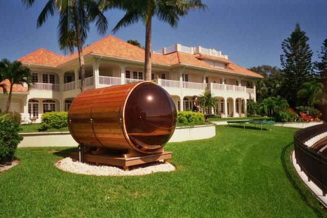 Оригинальная баня-бочка как центральный элемент ландшафта (рис. 3)