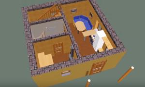 Первый этаж - визуализация