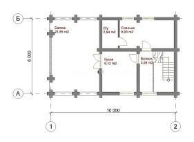 План второго этажа бани №4