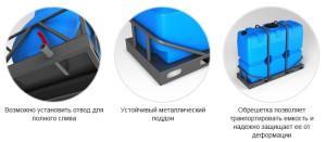 Пластиковые баки для воды от производителя