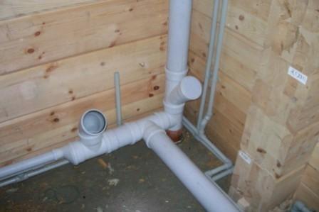 Полимерные трубы в бане