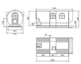 Приблизительная схема бани-бочки (рис. 21)