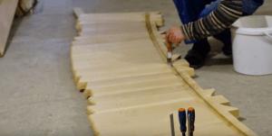 Пример изготовления стенок купели