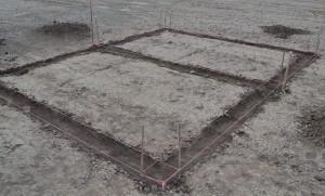 Пример копки траншеи под фундамент