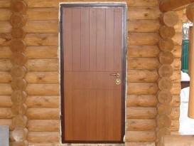 Пример металлопластиковой входной двери
