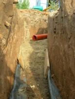 Пример прокладки канализационной трубы