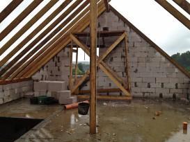 Пример строительства фронтона